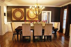 Sherwin Williams Black Fox is the name of the dark paint color on these walls
