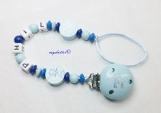 Schnullerkette Kleiner Prinz Dino Name Baby md296 von myduttel auf DaWanda.com