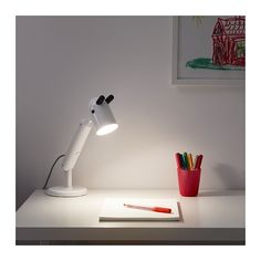 IKEA - KRUX, LED work lamp, white, Perfect lighting for doing crafts, drawing or building since you can direct the light where you like. Led Wall Lamp, Led Ceiling, Led Night Light, Light Bulb, Ikea Canada, Work Lamp, Nightlights, Led Lampe, Incandescent Bulbs