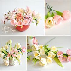 Christine diseño de papel - flores de papel resorte (5)
