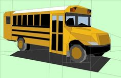 (7) Name: 'Quilting : School Bus