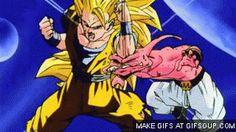 Goku and Buu funny