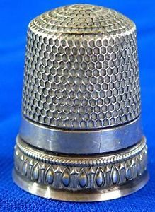 Antique Sterling Silver Sewing Thimble 2 | Vintageblessings