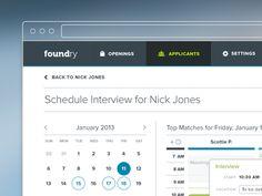 Foundry Hiring scheduler web app