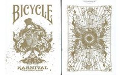 Bicycle Karnival Playing Cards in Gold. $9.95. #playingcards #poker #games #magic