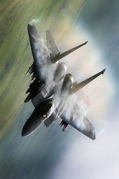 Fighter jet at high speed