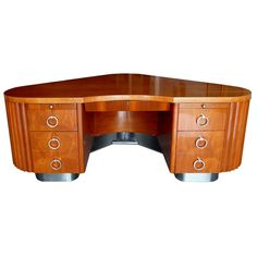 American Art Deco Fletcher Aviation Desk | From a unique collection of antique and modern desks at http://www.1stdibs.com/furniture/storage-case-pieces/desks/