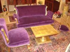 Purple Gold Gilt Settee,Chairs,& Table - $350 (Estate Marketplace-Taunton,Ma.02780-)