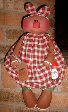 Primitive Christmas Gingerbread Doll