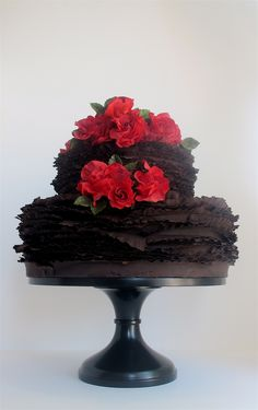 Chocolate +  #Red #Wedding #Cake ideas … #Budget wedding #ideas for brides, grooms, parents & planners ... https://itunes.apple.com/us/app/the-gold-wedding-planner/id498112599?ls=1=8 ♥ The Gold Wedding Planner iPhone #App ♥ plus tips on how to have a dream wedding, within any budget.