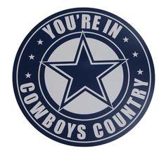 Dallas Cowboys Large Car Magnet