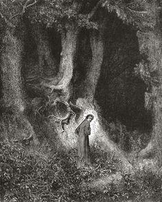 Gustave Doré - Canto I do Inferno de Dante.