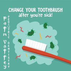 IT'S FLU SEASON! Be sure to change out your toothbrush after being ill to avoid getting sick all over again!  Palm Valley Pediatric Dentistry Surprise, Goodyear, Avondale    www.pvpd.com #pvpd #health #healthy #motivation #exercise #fitfam #smile #ThursdayThoughts