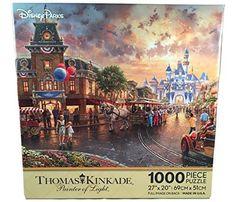 Disneyland Anniversary Thomas Kinkade 1000 PC Puzzle Painter of Light for sale online Thomas Kinkade Disney Puzzles, Disney Jigsaw Puzzles, Thomas Kinkade Art, Puzzle Crafts, Puzzle Art, Puzzle Toys, Disney 60th Anniversary, Disney Wishes, Disney Art
