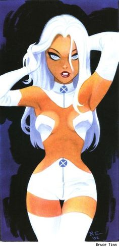 """""""The White Queen (Emma Frost)"""" by Bruce Timm Comic Book Artists, Comic Book Characters, Comic Artist, Marvel Characters, Comic Character, Comic Books Art, Character Design, Bruce Timm, Marvel Comics"""