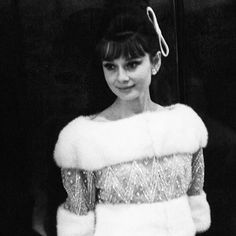 "Audrey Hepburn at Le Bal des Petits Lits Blancs, aboard the new liner ""France"" in Le Havre, France, 1962. #ThrowbackThursday #audreyhepburn #audrey #style #france #icon"