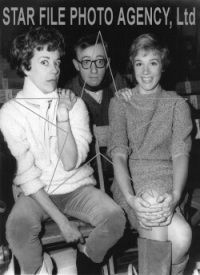 Julie Andrews Carol Burnett and Woody Allen during rehearsals for the LBJ Inaugural Gala.