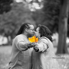 """Fall"" (ing) in love! When 2 become 1. #EngagementShoot #Wedding #TMOPhotography"