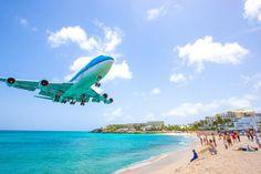 Maho beach, St Martin, Antilles