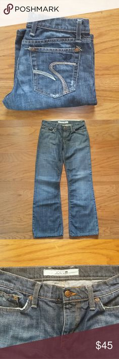 """Joe's Jeans These jeans are 98% cotton and 2% lycra.  28"""" inseam, 7.5"""" front rise, 12"""" back rise. Joe's Jeans Jeans Boot Cut"""