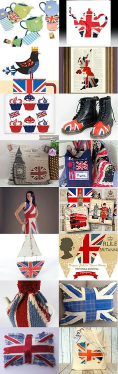 Fun Union Jacks! by #PatriciaSheaDesigns on #Etsy Pinned with TreasuryPin.com
