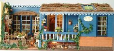 miniature flower-shop, made by Fennicole Miniatures