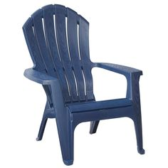 Midnight Stackable Outdoor Adirondack Chair-231723 - The Home Depot