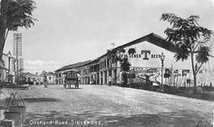 This is a view dated c1905, showing the corner of Grange Road. For the first time we see the classic rows of shop houses that typified Singapore streets for a hundred years. (Text from source)