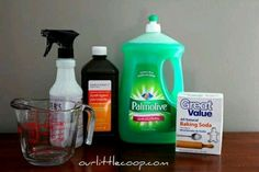 Urine stain removal from pets or potty training: 8oz hydrogen peroxide mixed with 3T baking soda - stir until dissolved. Pour into spray bottle, add 1-2 drops dish soap. Shake & spray on stain - when dries the stain & odor are gone! (Test for color bleaching in an inconspicuous place first)