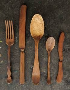 hand carved spoons and forks - Yahoo Image Search Results