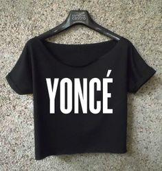 yonce shirt beyonce logo printed cropped tee women crop top