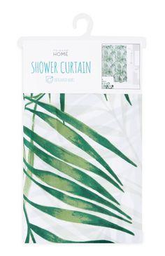 Cortina de chuveiro estampado palmeira