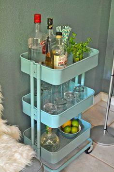 Little House of Four: 5 Ways to use the Raskog cart from Ikea