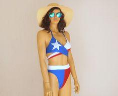 Texas Flag BikiniWrap bikini topHigh cut bottomsTriangle bikini topWomens swimwearSwimsuits plus sizeBathing suits July Flag Bikini, Strappy Bikini Top, Black Bikini Tops, Triangle Bikini Top, Wrap Around Bikini Top, Plus Size Swimsuits, Suits Women, Bathing Suits