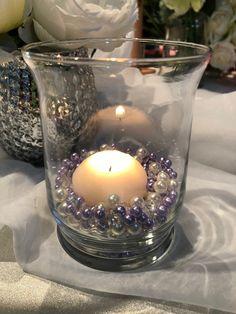 Lavender And White Pearls, Diamond Confetti Vase Fillers 500pc Small Pearls No Holes