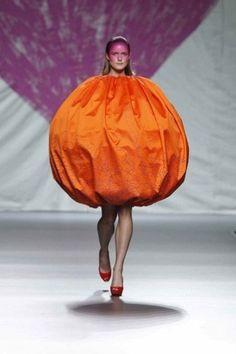 Agatha Ruiz de la Prada.... Perfect fall fashion, a Pumkin dress.