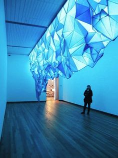 A Glowing Iceberg Made Entirely Of Staples And Tissue Paper | The Creators Project
