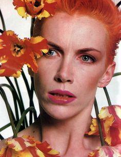 Annie Lennox orange. Annie was a surprise for me as far as becoming a fan.