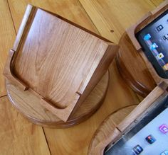 Cherry iPad Swivel Stand with CutOut by whimsysupply on Etsy, $140.00