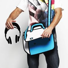 this is a REAL bag...how stinking cool.  What teen boy wouldn't flip for this?!!!  So cartoon like!