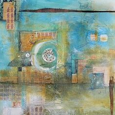 Love these colors, shapes and textures! Mary Beth Shaw: mixed media artist