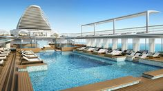 Pool Deck Rendering ~ Regent Seven Seas Cruises Details New Seven Seas Explorer Deck Recreations | Popular Cruising (Image Copyright © Regent Seven Seas Cruises)