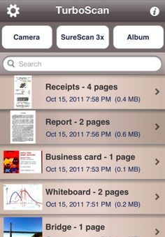 Turbo Scan. Make your life paper free by turning your iPhone into a multi-page scanner.