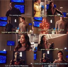 The Flash 3x17 j'onn is not just a pretty face