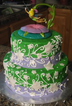 Love this tinker bell cake Wedding cakes and Beautiful Cake Design