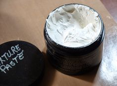 Recipe for Texture Paste..... 1 1/4 C Baby Powder 1/2 C Gesso or White Paint ( I used Gesso) 1/4 C ModPodge