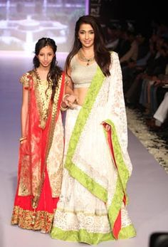 Producer Nishika Lulla walked the ramp with her daughter @ IIJW, 2013 celebrating the Girl Child  Photo: Yogen Shah