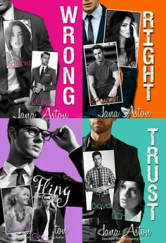 Casting for Wrong, Right, Fling and Trust by Jana Aston