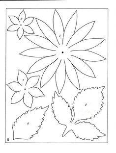 plantillas paper flowers - Buscar con Google