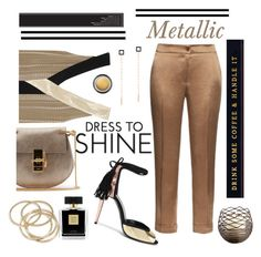 """Metallic"" by bravo1755 ❤ liked on Polyvore featuring Lana, Chloé, Zeus+Dione, Pierre Hardy, Etro, Armani Beauty, Eleanor Stuart, ABS by Allen Schwartz and Avon"